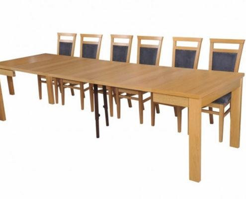 Stół rozkładany Ambasador A-Stół 90/290 Maxi rozk.+wkł. 3x67