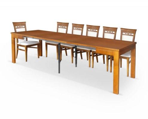 Stół rozkładany do jadalni Ambasador A-Stół 90/290 Maxi rozk.+wkł. 3x67