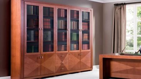 Biurko do biura Cube C-Biblioteka 290 z intarsją