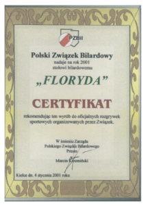 Certyfikat Floryda
