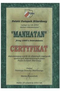 Certyfikat Manhatan