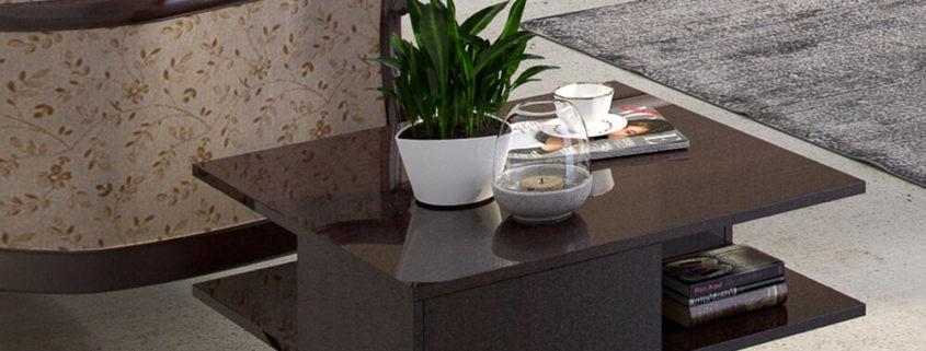 stolik kawowy do salonu M-Ława 80x80 z szufladkami