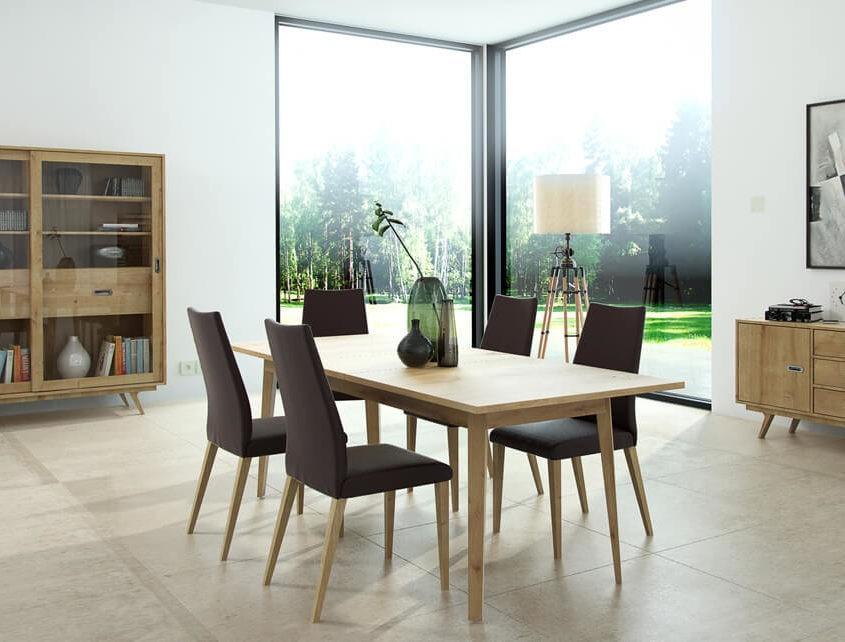 Stół do salonu Saga SG-Stół 150/195 rozk. 2cz.+wkładka 45