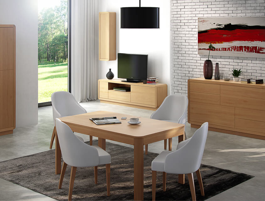 Stół do salonu San Marino SM-Stół 160/210 rozk. 2cz.+wkładka 50