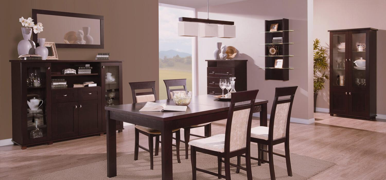 Kredens stół krzesła zestaw mebli do jadalni