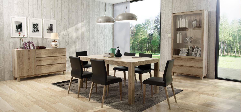 Krzesła stół Barcelona zestaw mebli do jadalni
