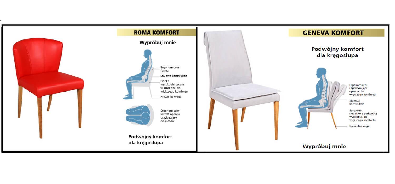Krzesła Geneva i Roma slider