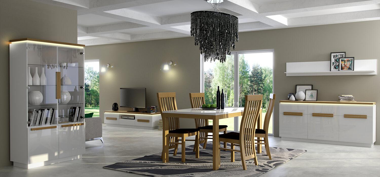 Krzesła stół Paris zestaw mebli do jadalni
