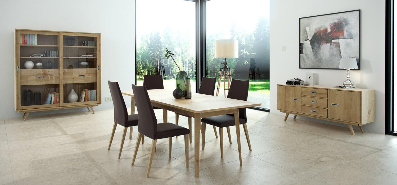Krzesła saga stół zestaw mebli do jadalni