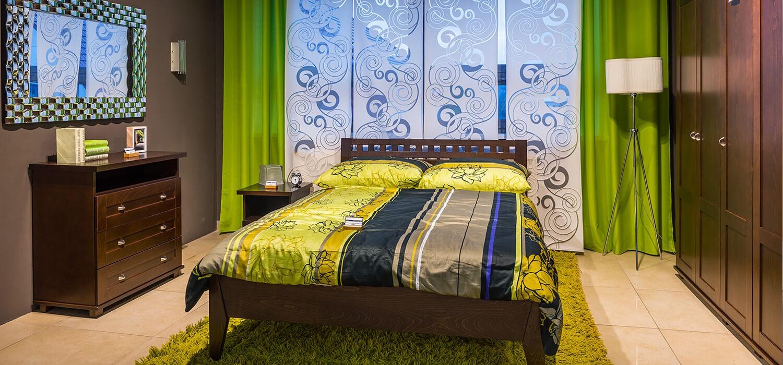Łóżko zestaw mebli do sypialni