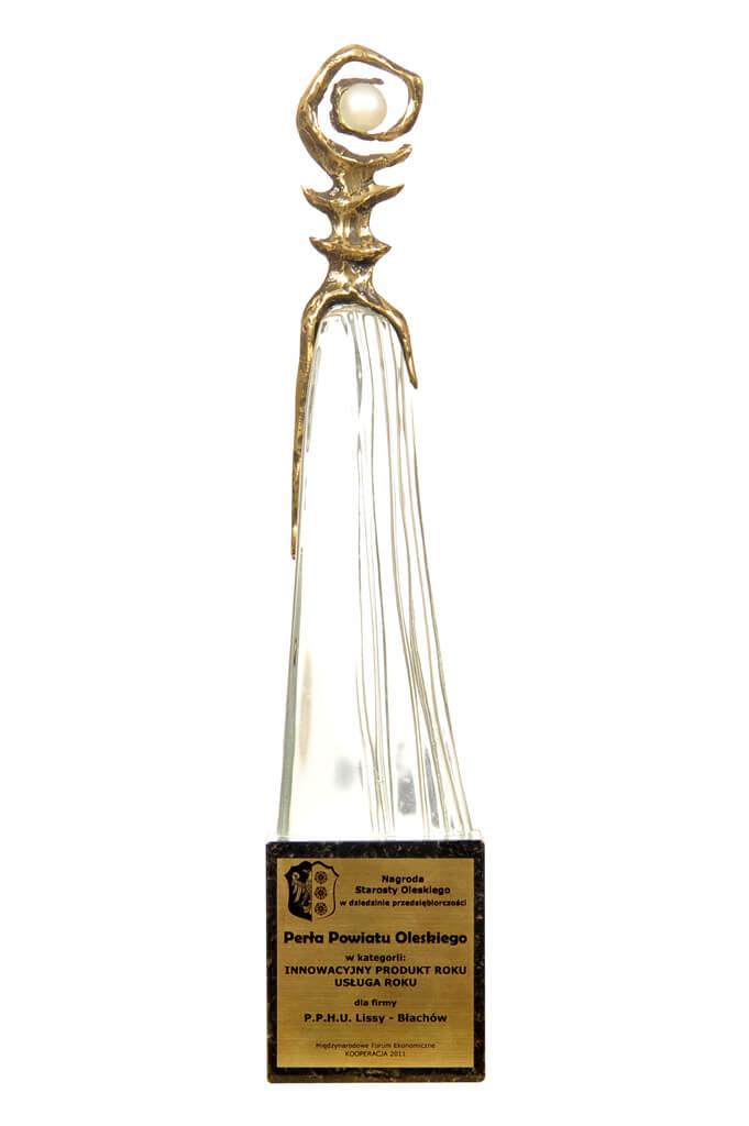 Nagroda Perla Powiatu Oleskiego Innowacyjny Produkt Usluga Portland LISSY