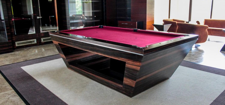 Ekskluzywny stół bilardowy według projektu
