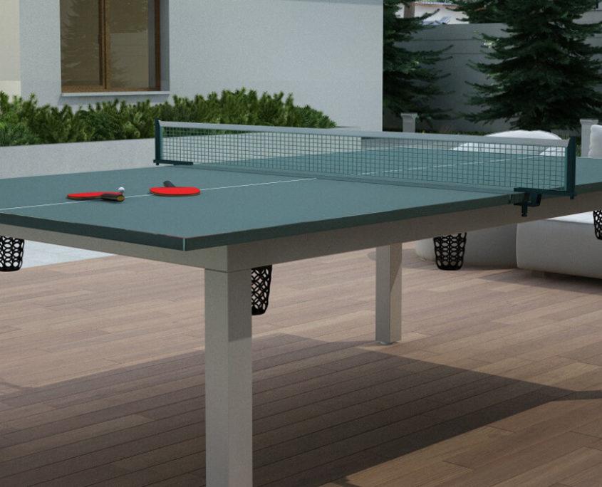Stół bilardowy z blatem do tenisa do ogródka