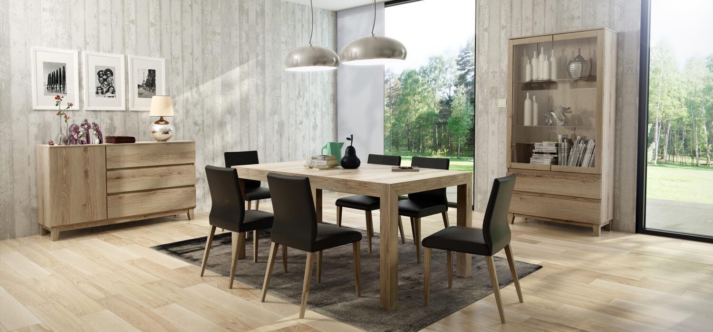 Stół krzesła zestaw mebli do jadalni