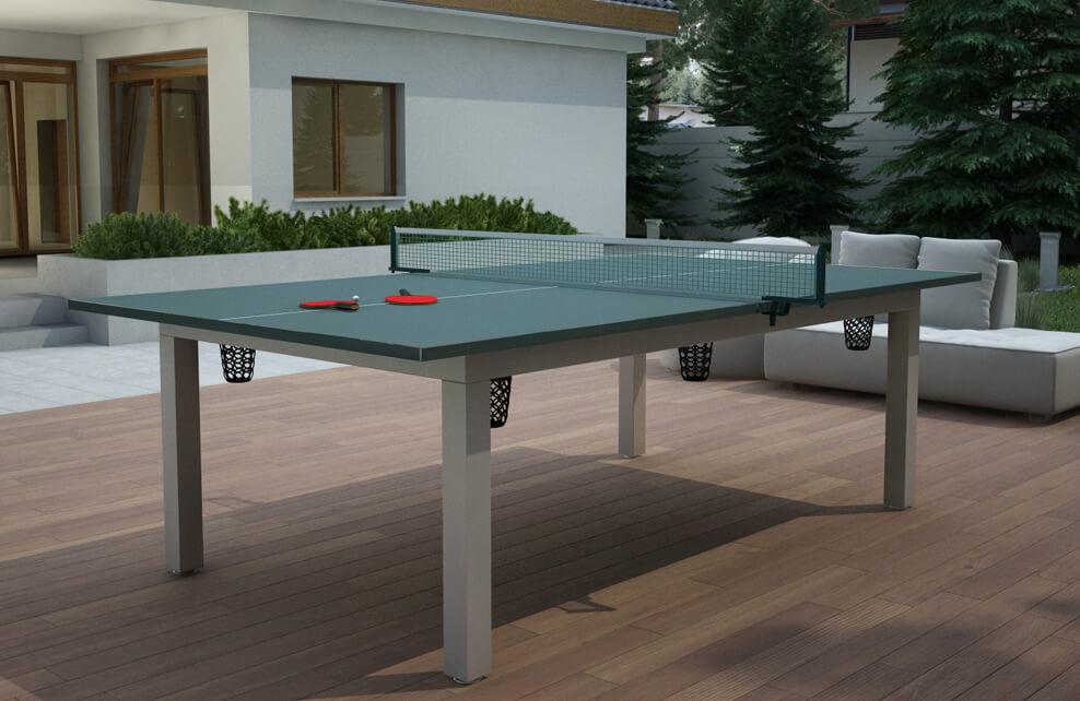 Stół do bilarda z blatem Ping Pong Vermont Outdoor 7ft