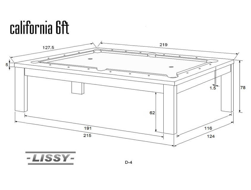 Stół do bilarda CALIFORNIA 6ft
