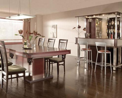 Barek Toronto i stół bilardowy z blatem nakrywającym