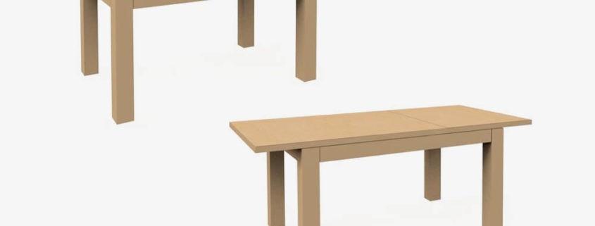 C-Stół rozkładany 140/190 z intarsją