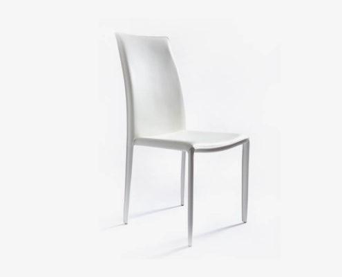 Krzesło Adamo Biała Skóra