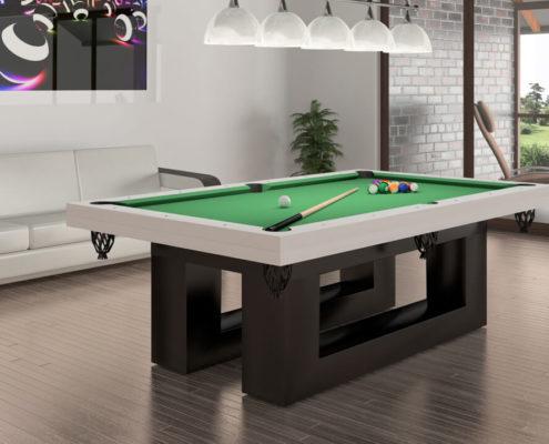 stół bilardowy w stylu minimalistycznym