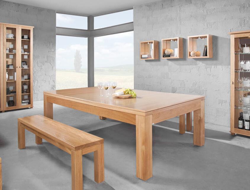 dębowy stół bilardowy
