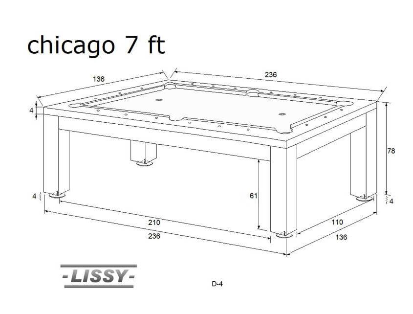 Stół do bilarda Chicago 7ft