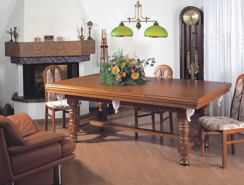Stół do bilarda z blatem biesiadnym