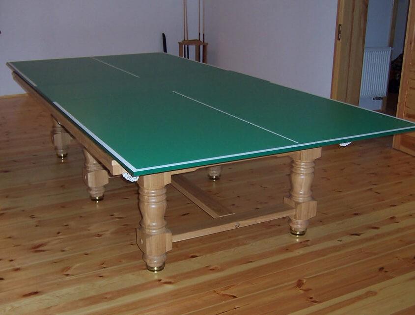 Stół do bilarda z blatem do ping ponga