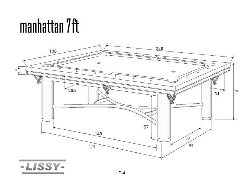 Stół do bilarda Manhattan 7ft