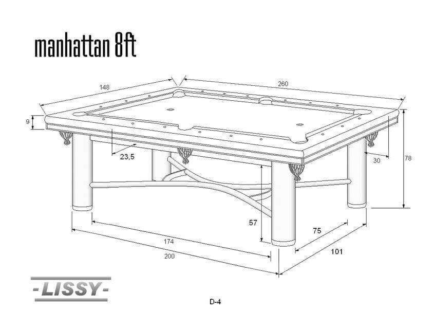 Stół do bilarda Manhattan 8ft