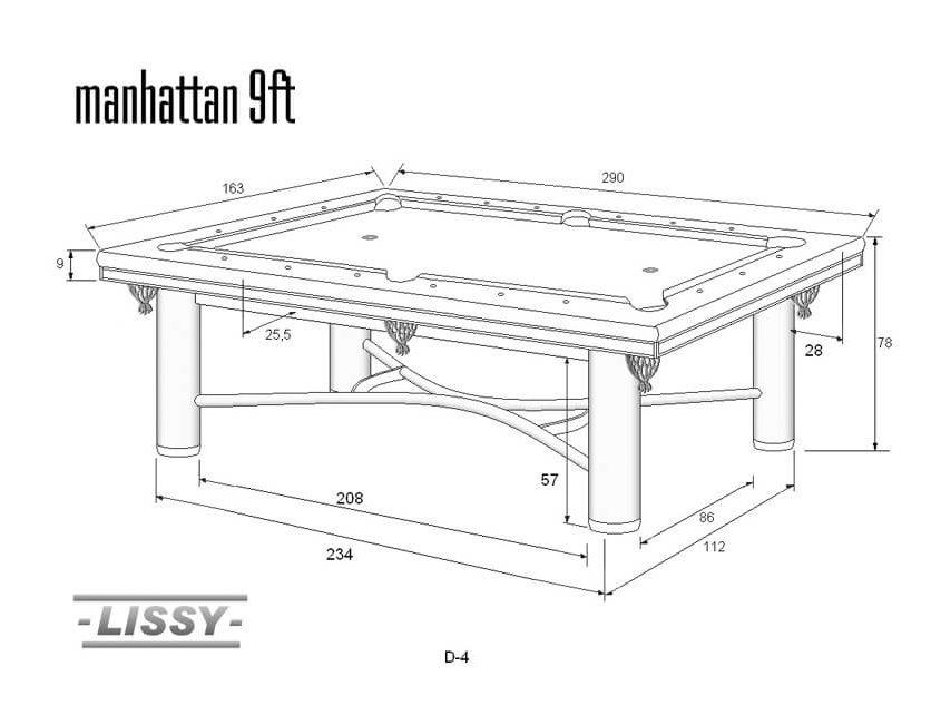 Stół do bilarda Manhattan 9ft