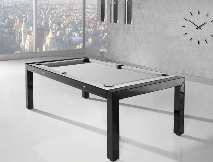 awangardowy stół bilardowy na wysoki połysk