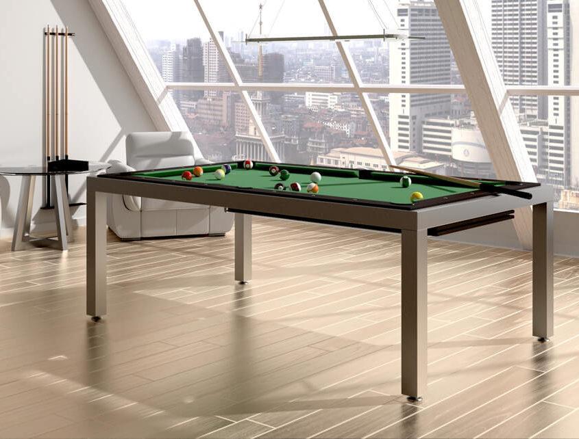 Metalowy stół bilardowy