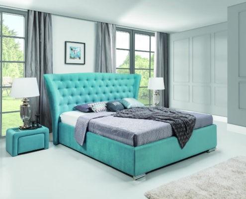 łóżka Nowoczesne łóżka Do Sypialni łożka Tapicerowane Lissy