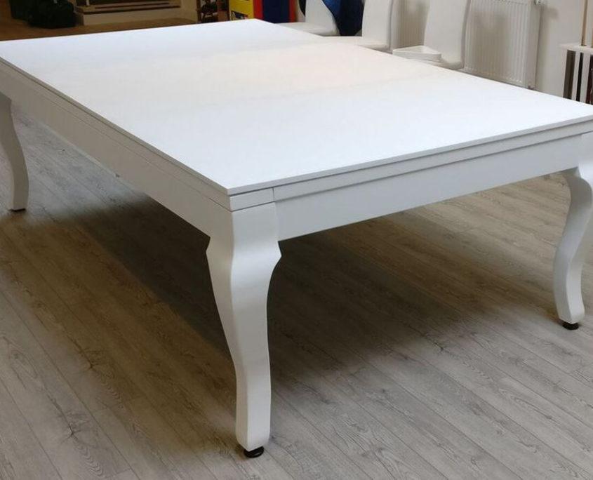 Stół do bilarda Porto biały