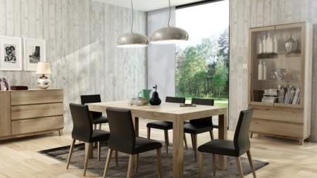 Stół rozkładany 140 / 200 cm x 96 cm BARCELONA