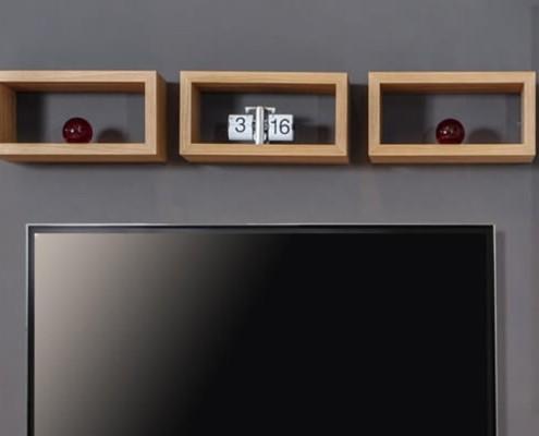 Półka wisząca prostokątna dębowa
