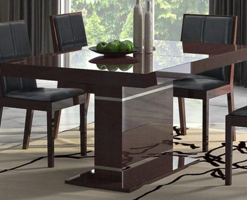 stół na wysoki połysk na jednej nodze
