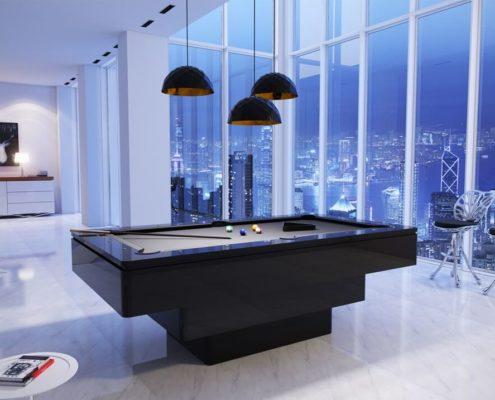 Ekskluzywny i nowoczeny stół bilardowy na wysoki połysk