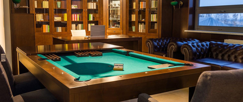 Stół do biura i bilard w jednym