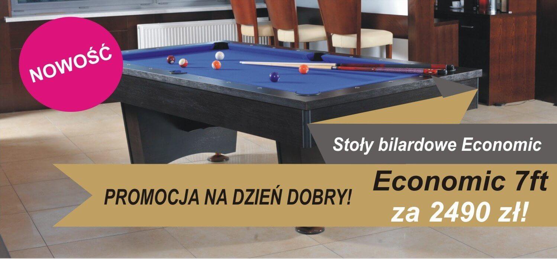 Promocja na stół bilardowy Economic