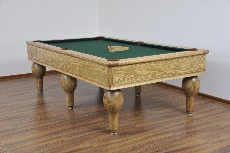 Stół do bilarda z nogami gruszy