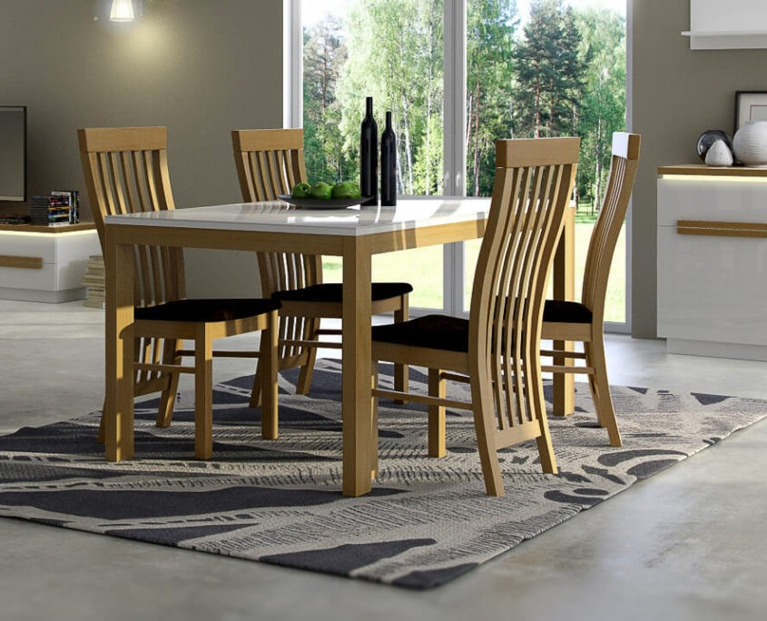 Stół Paris z krzesłami komplet
