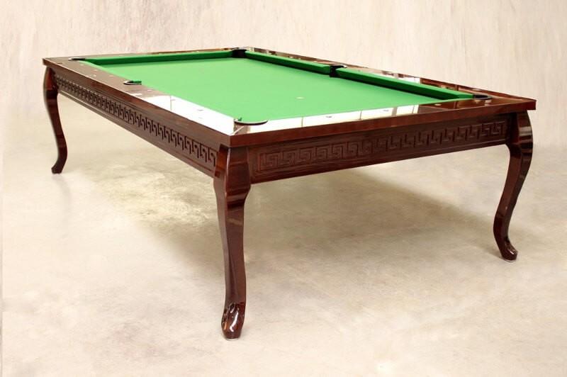 Stół do bilarda z greckim wzorem
