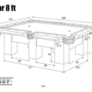Stół bilardowy CEZAR 8ft – Lissy