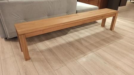 OUTLET –  Ławka drewniana dębowa 219 cm