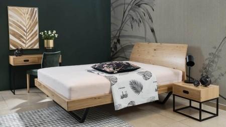Łóżko 140×200 – LUGO dąb sękaty – Lissy
