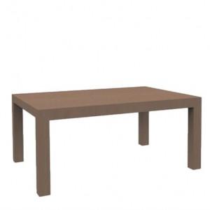 Stół 160 / 230 cm bez intarsji, rozkładany, orzech amerykański – CUBE – Lissy