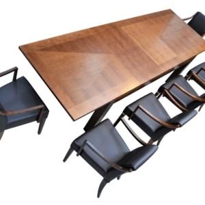 Stół 200 / 300 cm z intarsją rozkładany – CUBE – Lissy