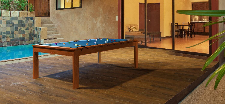 Drewniany stół do ogrodu i bilarda